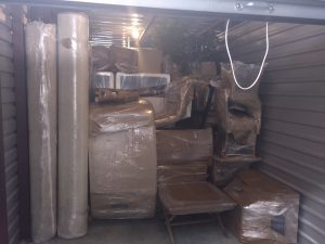 picture of wrapped boxes in truck